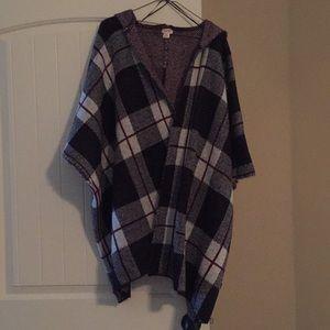 Mossimo hooded shawl, size Small/Medium